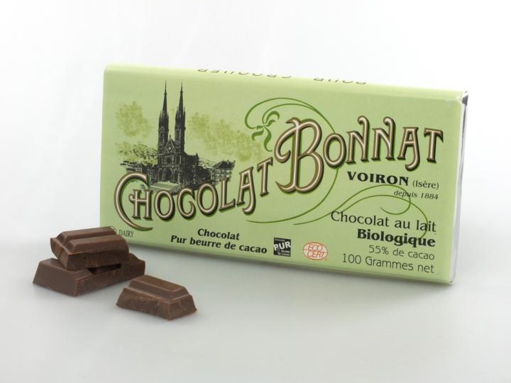 Chocolat au lait Biologique 55 %