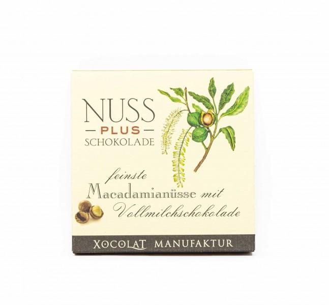 Nuss PLUS Schokolade - Vollmilch Macadamia